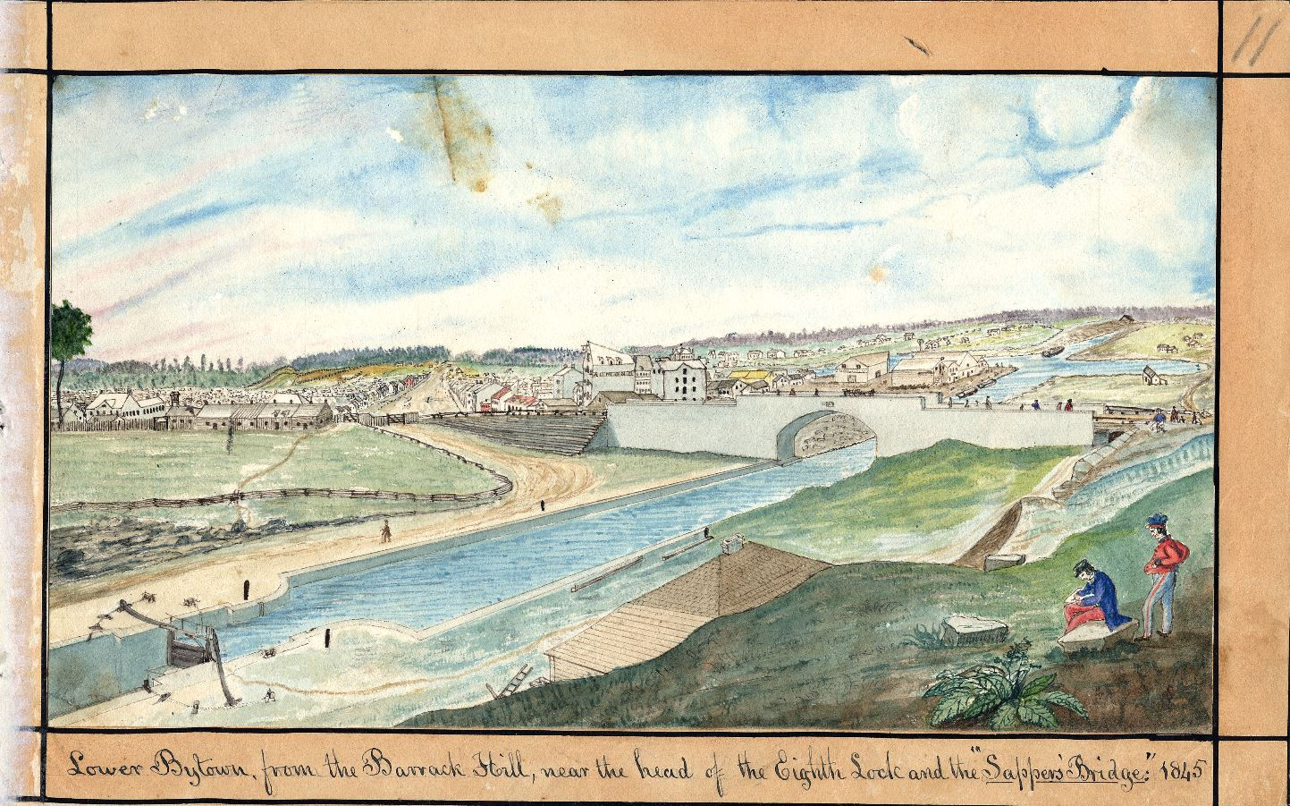 Lower Bytown from Barrack Hill 1845