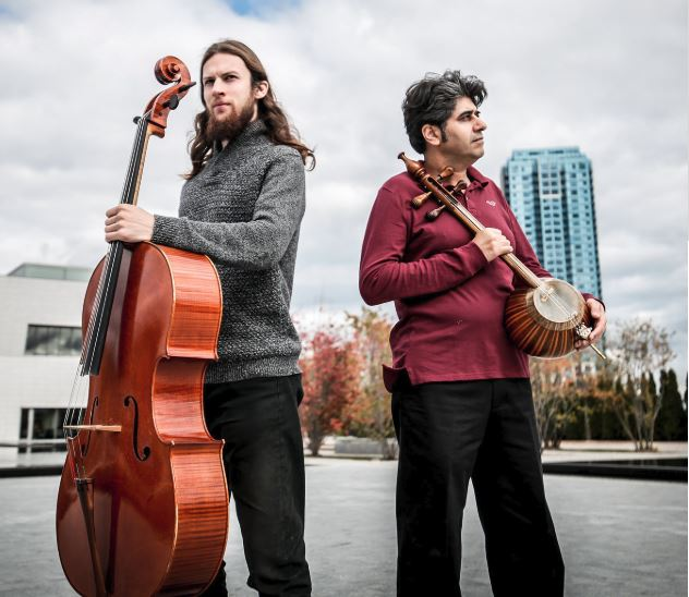 Raphael Weinroth-Browne (cello) and Shahriyar Jamshidi (kamanche) unite the Kurdish kamanche with the classical cello, transcending genres and cultures.