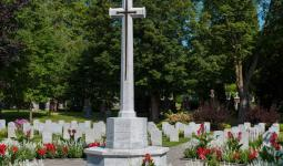 Cross of Sacrifice in the Veterans Sections